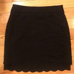 LOFT Scalloped Hem Skirt